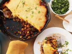 Quick and Easy Skillet Tamale Pie With Brown Butter Cornbread Crust
