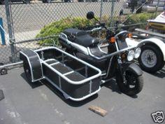 Sidecars- Lets see em. Piaggio Scooter, Scooter Bike, Custom Motorcycle Builders, Custom Bikes, Bike With Sidecar, Three Wheel Bicycle, Bike Magazine, Honda Ruckus, Motorcycle Trailer