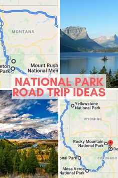 National Park Road Trip Ideas #nationalparks #roadtrip #roadtripusa #roadtriptips #findyourpark #familytravel National Park Pass, National Parks, Colorado National Monument, Rocky Mountain National, Canada Travel, Travel Usa, Wyoming, Travel Inspiration, Travel Ideas