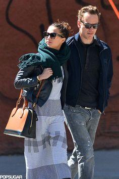 Alicia Vikander and Michael Fassbender in Soho, New York (4/4/15)