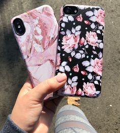 Rose or Blush Rose? Shop Cases for iPhone X, iPhone 8 Plus / 7 Plus & iPhone 8 / 7 from Elemental Cases #rosemarble #blushrose #elementalcases #iphonex #iphone8 #iphone8plus