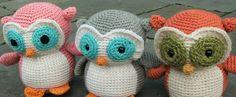 amigurumi plush crochet owls