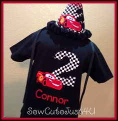 Cars Lightning McQueen Themed Birthday by SewCuteJust4U on Etsy, $40.00