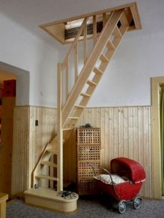 56 clever loft stair for tiny house ideas House Stairs Clever House Ideas Loft Stair Tiny Renovation Design, Attic Renovation, Attic Remodel, Basement Renovations, House Renovations, House Remodeling, Attic Rooms, Attic Spaces, Small Spaces