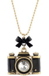 betsy johnson camera necklace - this is sooo Camera Necklace, Long Pendant Necklace, Necklace Charm, Betsey Johnson Necklace, Photography Gifts, Ball Chain, Jewelry Necklaces, Long Necklaces, Jewellery