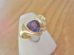 One of a kind purple sapphire and diamond ring by Glenn Dizon, www.glenndizon.com. Just finished and available for sale.