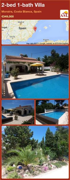 2-bed 1-bath Villa in Moraira, Costa Blanca, Spain ►€349,000 #PropertyForSaleInSpain