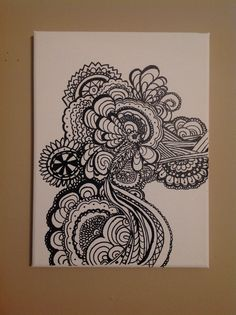 Pen and sharpie drawing