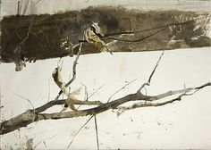 Andrew Wyeth understood painting and carving out light with watercolor like no other and had such an understanding of the unusual, stark, non-sacharine beauty of New England and Pennsylvania.
