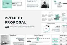 Project Proposal PowerPoint Template by CreativeSlides on @creativemarket