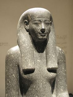 A statue of Inuet from the time of Amenhotep III. Inuet was the wife of Montu.