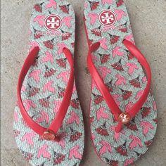 Tory Burch Flip Flops Brand new, never wore Tory Burch Shoes Sandals