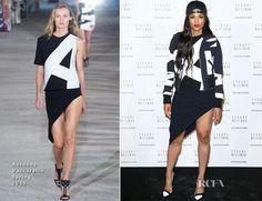Ciara In Anthony Vaccarello - Stuart Weitzman Cocktail Party - Red Carpet Fashion Awards