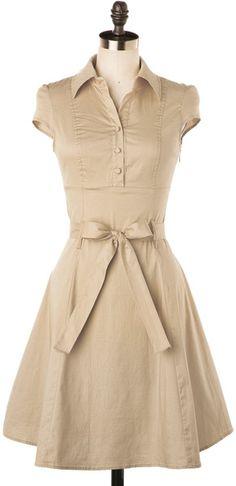 Soda Fountain Dress in Vanilla