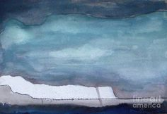 Abstract Landscape Print featuring the painting Elapsing Night by Vesna Antic