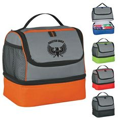 Promotional Two Compartment Lunch Pail Bag