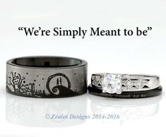 disney wedding rings Jack and Sally Wedding Rings . disney wedding rings Jack and Sally Wedding Rings Best Of the Nightmare before Gothic Engagement Ring, Engagement Sets, Morganite Engagement, His And Her Engagement Rings, Ring Set, Ring Verlobung, Nightmare Before Christmas Rings, Jack Und Sally, Wedding Outfits For Family Members