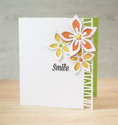 Simple die cutting card made by Paula Pascual