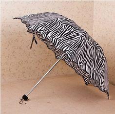 parasol Princess flounced fold arched creative cute zebra stripe umbrella UV umbrella wedding umbrella pocket umbrellas from Reliable Princess flounced fold arched creative cute zebra rainbow sun umbrella UV umbrella $15.77