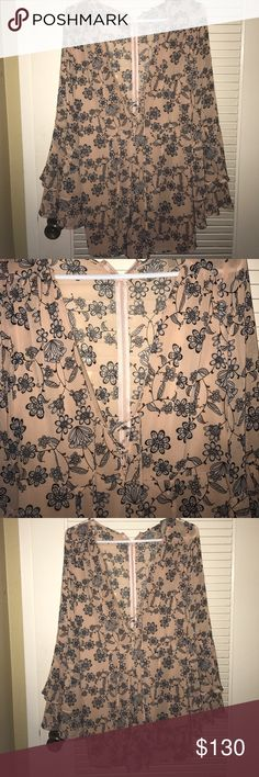 For Love and Lemons Pia Romper Size Medium NWT For Love and Lemons Pia Romper in size medium. Gorgeous floral romper perfect for any occasion! For Love And Lemons Other