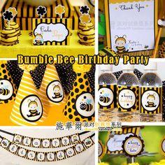 Купить «Bee тема партии custom» дети детские день рождения лет сто дней полной луны украшают флаги из категории Бумажные гирлянды и праздничные украшения на Kupinatao.com