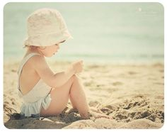 Great beach shot of small child. Have to try this one.