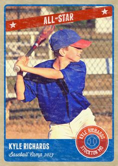 Baseball Sports Trader Card Template For Photoshop BASEBALL CLASSIC - Baseball card template photoshop