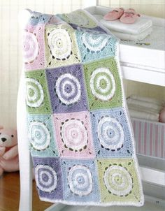Delight a new mom or grandmom with a soft afghan for Baby! The eight wraps offer varying degrees of warmth, so you can crochet the best blanket for the season. Two of the patterns also include sweet l