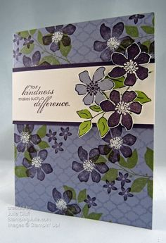 by Julie Cluff, Stamping Julie.  Summer Silhouettes Kindness Thank You Card angle