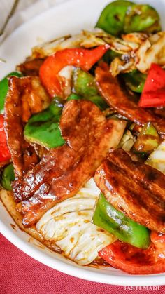 Pork Recipes, Asian Recipes, Cooking Recipes, Twice Cooked Pork, Confort Food, Asian Stir Fry, Easy Delicious Recipes, Asian Cooking, Recipes From Heaven