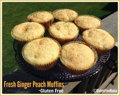 Mama's Gluten Free Fresh Peach and Ginger Muffins Gluten Free Mama's Blog