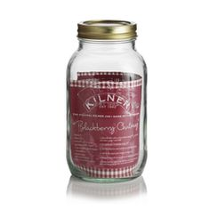 A 1000ml Kilner Jar  with a separate metal heat sealable disc and 68mm screw band.