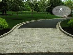 Image result for cobble stones in tarmac