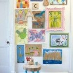 Decorate an empty wall with your children's art from ideasmag.co.za