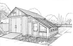 shed with greenhouse - Google Search