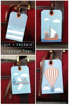 Free printable luggage tags - get tagged! Cute to pass out for students' backpacks first week of school