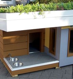 Cool dog houses. #doghousesandkennels…