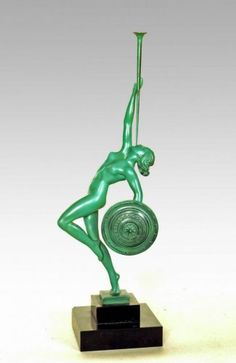 Max Le Verrier statue Art Deco 1925-1930 Guerbe signed (Pierre Le Faguays)