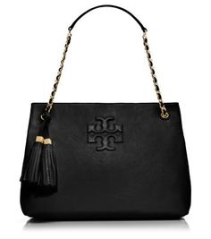 Tory Burch THEA CHAIN SHOULDER SLOUCHY TOTE! I want the black, cream and beige! Yes one in each color!