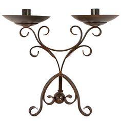 Jan Barboglio Adelita Candlestick - Handcrafted forged ornamental iron.