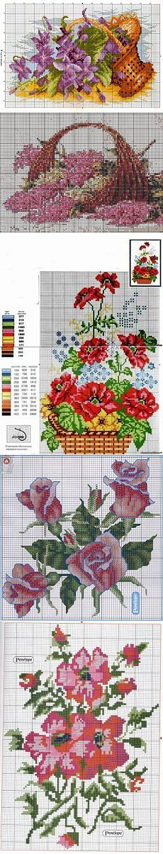Цветочная поляна -схемы вышивки крестом / Вышивка / Схемы вышивки крестом