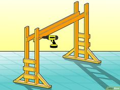 How to Build Monkey Bars. With a little elbow grease and ingenuity, you can make your own set of monkey bars using some planks of wood, screws, and bars that you can purchase online or at a hardware store. First, you'll have to cut the. Backyard Jungle Gym, Backyard Playset, Backyard Playground, Backyard For Kids, Backyard Projects, Garden Kids, Diy Monkey Bars, Indoor Monkey Bars, Backyard Obstacle Course