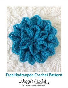 Hydrangea – Free Crochet Pattern