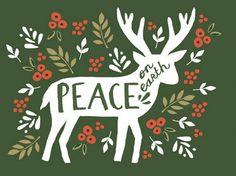 peace card reindeer etsy seller augustandoak