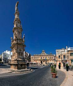 Piazza della Libertà, Ostuni, Puglia, Italy