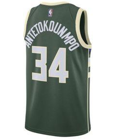 35f39cb38 Nike Men s Giannis Antetokounmpo Milwaukee Bucks Icon Swingman Jersey -  Green L Camisas