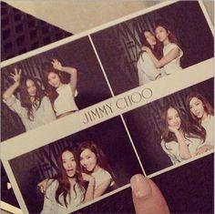 Krystal and jessica jung |Jimmy Choo