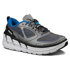 New at the store! Men's Hoka One One Conquest shown in Frost Grey/Blue/White
