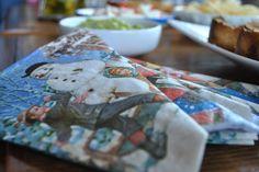 details, nice paper napkins form grandmas home  Christmas