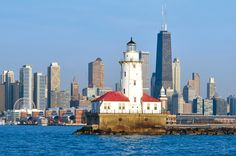 Chicago Skyline and Lighthouse